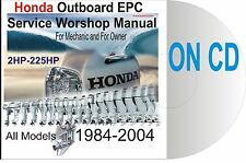 ALL HONDA 2HP-225HP on CD 1984-2004 SERVICE MANUAL EPC REPAIR SET-UP OUTBOARD