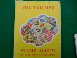 TRIUMPH STAMP ALBUM WITH STAMPS