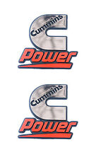 Cummins Diesel Engines Power Automotive Badge Chrome Emblem Decals - 2 Pack