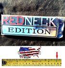 REDNECK EDITION car TRUCK Tailgate EMBLEM LOGO DECAL SIGN CHROME RED NECK Rear
