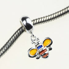 Guaranteed Genuine .925 Sterling Authentic Silver Charm Enamel Honey Bee