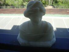 Antique Italy Alabaster Woman Statue Bust