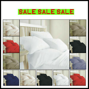"""Extra Deep Fitted Sheet 16""""/40CM 100% Egyptian Cotton 200TC all 5 sizes 6 colors"""