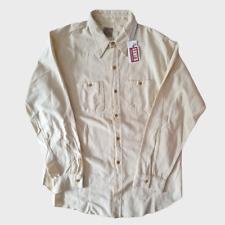 NWT LVC Levi's Vintage Clothing Deluxe Shirt Cream Size L