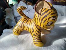 Oil Cloth stuffed animal - TIGER - 1920's / 30's era antique toy