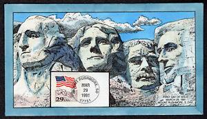 1991 29c Flag Over Rushmore (Scott 2523) - Collins H/P FDC QF643