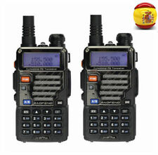 2× BaoFeng *UV-5R Plus* 136-174/400-520 Radio Emisora Transceptor Walkie Talkie