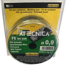 Bobina di filo animato x saldatura ferro MAG senza gas 0,9 mm 0,7 Kg Deca 010818