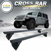 For 2007-2019 Jeep Wrangler JK JL Roof Rack Cross Bar Cargo Carrier OEM Replace