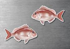 Snapper sticker 2 pack quality water & fade proof 7 year vinyl boat fishing