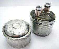 FRENCH Sterling Silver DOUBLE Scent Perfume Bottle Case Box Edouard Fournemet