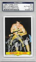 "BRUTUS ""THE BARBER"" BEEFCAKE Signed 1985 TOPPS WWF Wrestling Card #41 PSA/DNA"