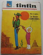 JOURNAL TINTIN N°931 LE dossier CONCORDE/JACOBS/MICHEL VAILLANT 1966 BON ETAT