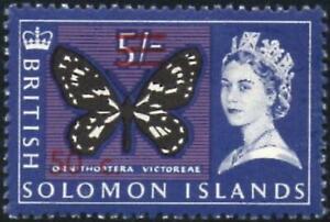 British Solomon Islands 1966 QEII  50c on 5/-  Wmk Sideways SG.150B Mint Hinged