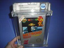 Metroid 1st print hangtab complete in box WATA 7.0 for NES Nintendo! Not VGA