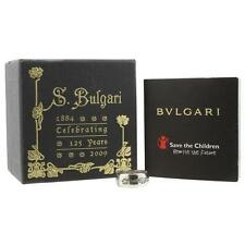 Bvlgari Bulgari Italy Save The Children Sterling Silver Size 4 Band ... Lot 6164