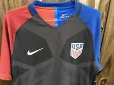 Men's Nike 2016 U.S. Match Away Soccer Jersey Black Blue Red 743672 010