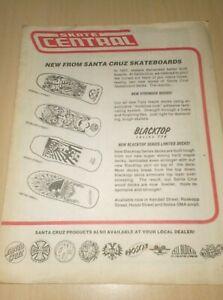 catalog vintage skateboard skate central santa cruz  80´s  ............F