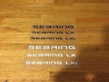 SEBRING PATCH FLOCAGE LOGO FLEX NOIR OU BLANC - 13 CM PAR 5.5 CM