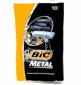 Bic Metal Bar Disposable Razor for Men, 10 Count