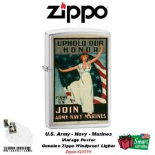 Zippo Uphold Your Honor, US Army, Navy, Marine Corps Vintage Poster #29599