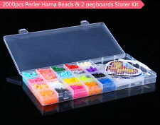 2000pcs Perler Hama 5mm Beads w' Pegboards Tweezer Ironing Paper Starter Kit DIY