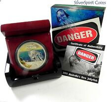 2011 DEADLY & DANGEROUS BOX JELLYFISH Silver Proof Coin