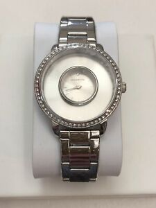 Authentic Origami Owl Silver Signature Locket Watch w/Crystals LK5001 MSRP $118