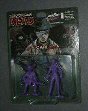 THE WALKING DEAD COMIC CARL & ZOMBIE 2-PACK PURPLE SKYBOUND EXCLUSIVE