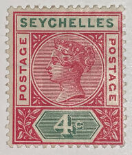 Travelstamps: 1892 SEYCHELLES STAMPS SG#10, Mint, Original Gum, Hinged 4cents