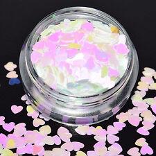 Glitter Stars Hearts Sequins Studs Nail Art Nails Pink Craft Iridescent