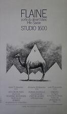 """""""FLAINE / STUDIO 1600 (Programme 1969)"""" Affiche originale entoilée Roland TOPOR"""