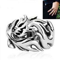 Biker Men's Ring Dragon Pattern Stainless Steel Gothic Dragon Claw Dñrew WQHN