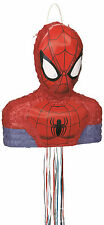 Spider-man 3d Pull String Pinata Birthday Party Game