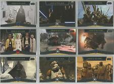 "Star Wars Galactic Files - ""Heroes on Both Sides"" Set of 10 Chase Cards #HB1-10"