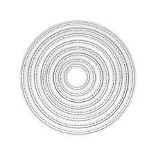 8pcs Round Circle Metal Cutting Dies Stencil For Scrapbooking Craft Album Cards