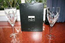 "2 Waterford Crystal John Rocha ""Signature"" Wine Glasses in Box + Tissue 23cm"