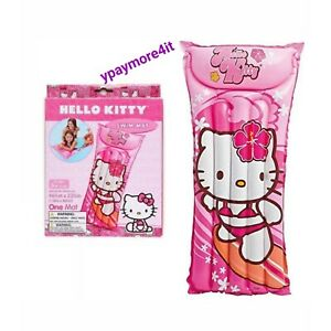 "NEW Intex Hello Kitty Inflatable Swim Float Mat Ages 3+ Lounger 46"" x 23"""