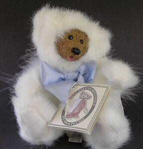 Kimbearly's Hunt Original Plush Bear With Angel Wings Resin Face Serial# 2E/529
