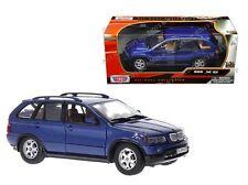 Motor Max 1:24 W/B Bmw X5 Diecast Car 73254Bl Blue