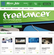 Freelancers Microjobs Marketplace - Website for Sale Hosting Included