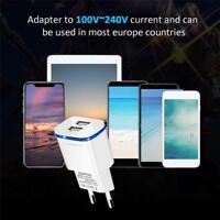 2.1A Schnell Ladegerät Stecker Dual Ports USB Netzteil Adapter Für Handy Tablet