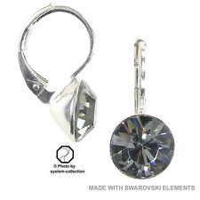 Mode-Ohrschmuck im Hänger-Stil mit Kristall-Hauptstein und Schnappverschluss