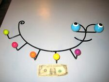 Eames style retro Bug shaped wire wall rack with Eyes & colored  balls