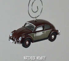 Classic Two Tone Volkswagen Beetle Custom Christmas Ornament VW Bug Herbie 1/64