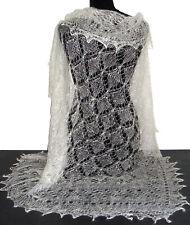 Châle Blanc - Châle Mariage - Chale russe d'Orenbourg Tricoté la main cachemire
