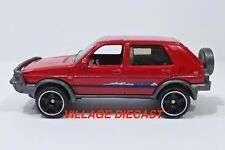 2018 Matchbox #99 '90 VW Golf Country RED TORNADO / 5 TRUNK ITEMS / MINT