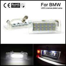 PAIR LED Number License Plate Lights Lamp For BMW X5 E53 X3 E83 03-10 Error Free