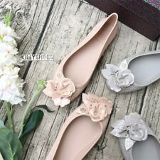 Tory Burch Blossom Jelly Ballerina Flats Grey/Nude Size UK 3 4 5 EU 36 37 38