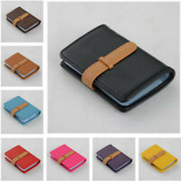 26 Slots PU Leather Business ID Credit Card Holder Case Pocket Bag for Men Women
